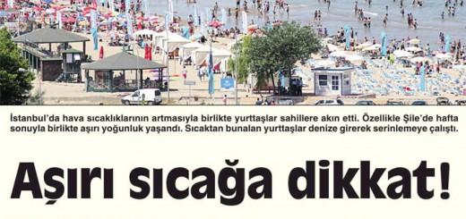 Aşırı Sıcağa Dikkat..!! Cumhuriyet Gazetesi